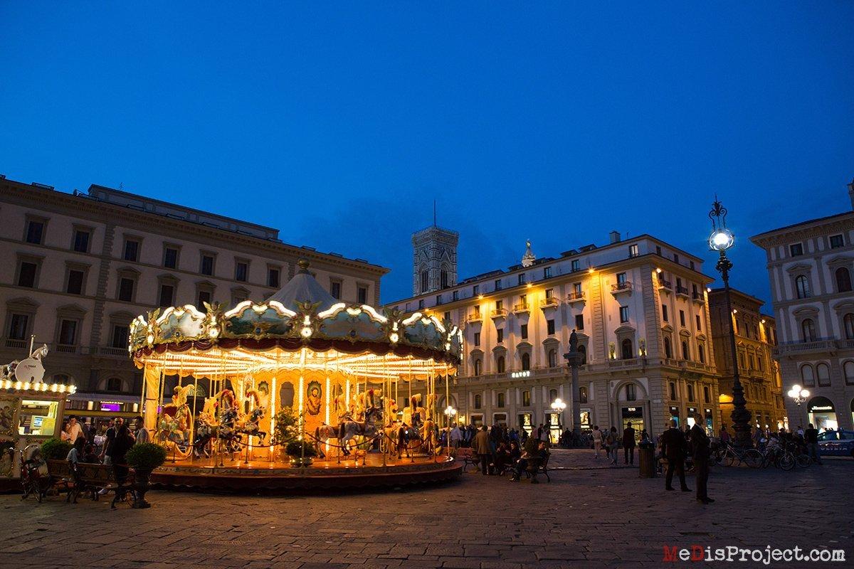 florence historical carousel in piazza della repubblica
