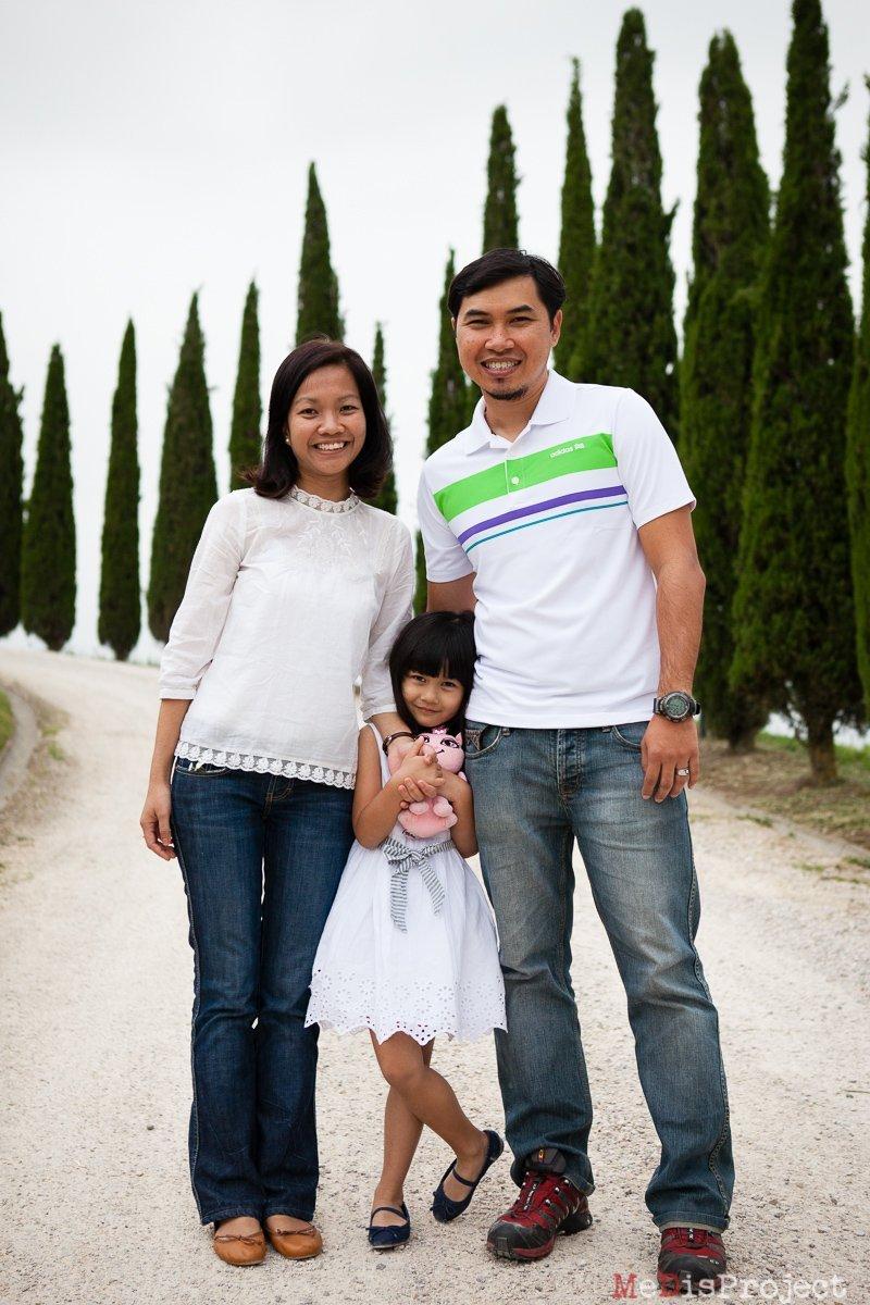 standing outdoor family portrait
