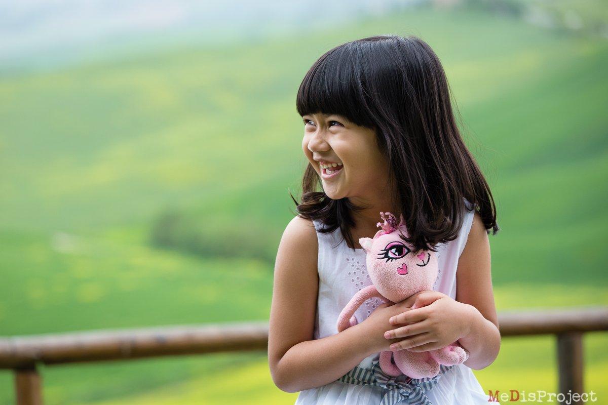 Singaporean girl holiday photos in Tuscany