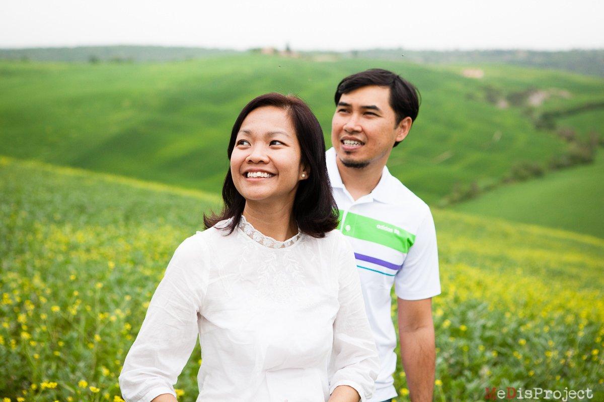 Singaporean Couple's photo session in Tuscany