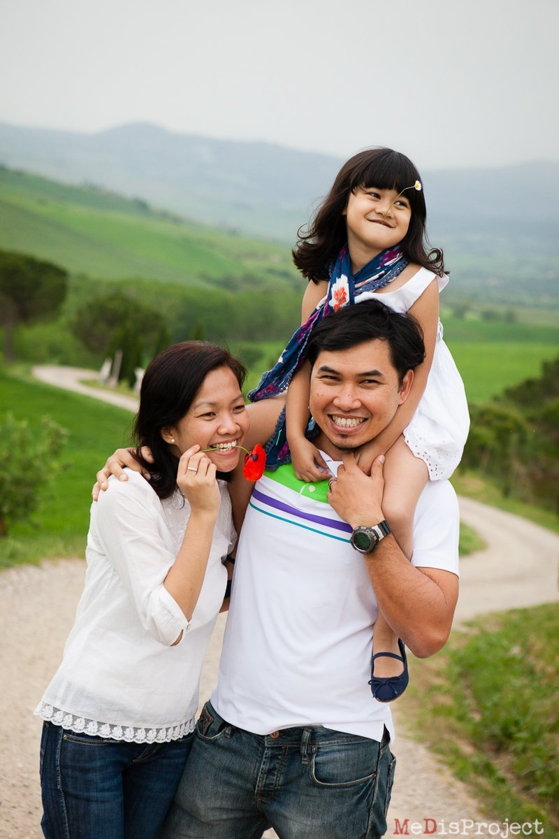 Singaporean family portrait outdoor