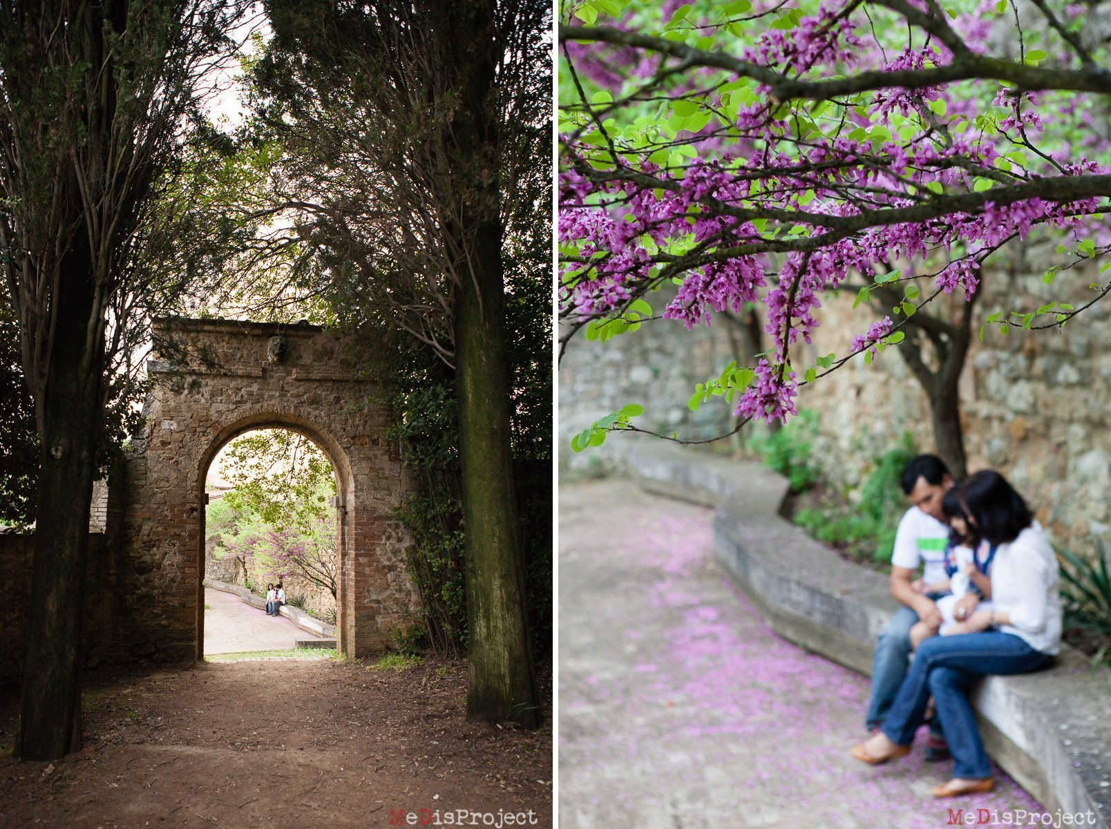 Family photo session in San Quirico d'Orcia