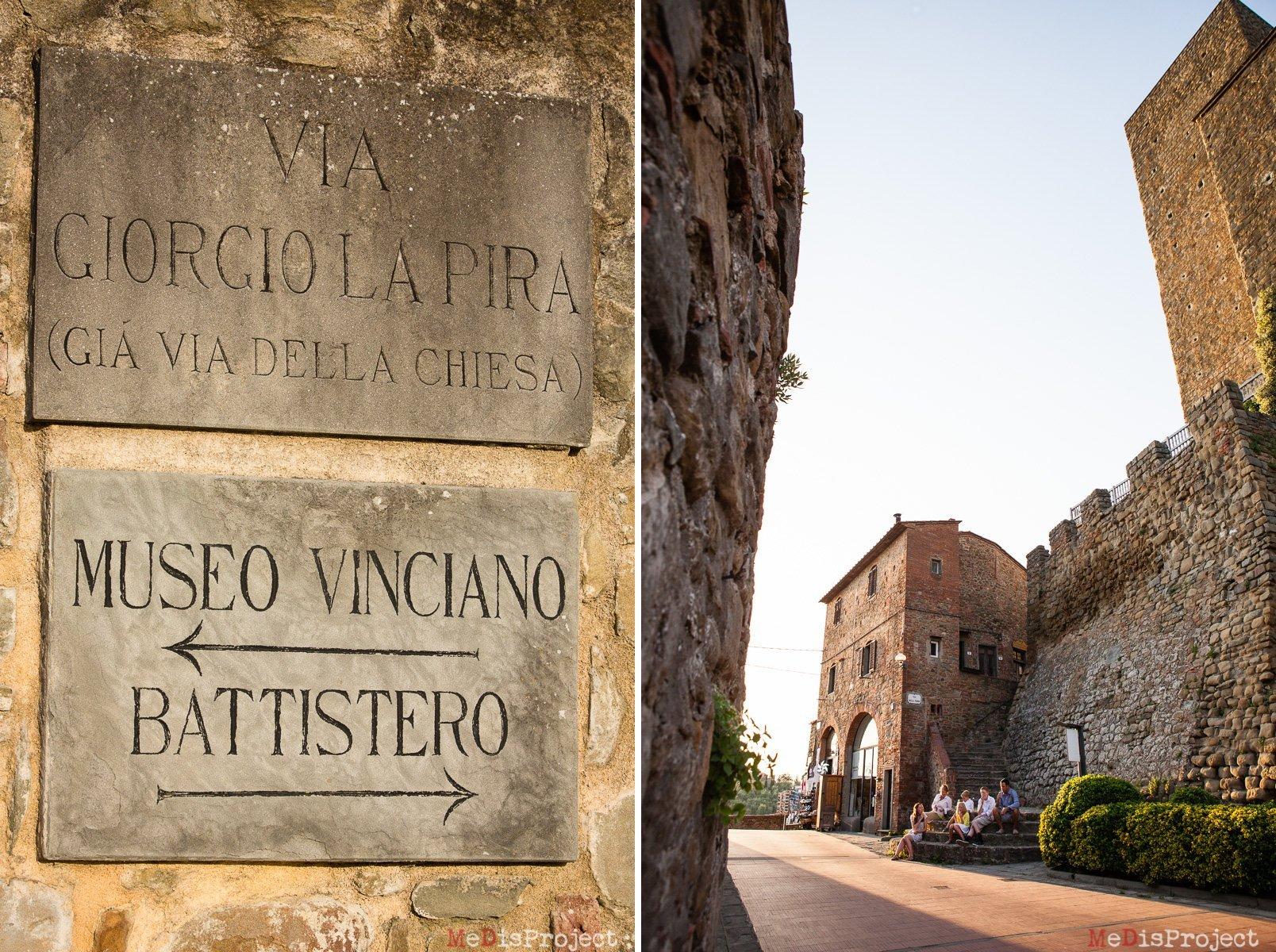 family portrait in vinci, tuscany