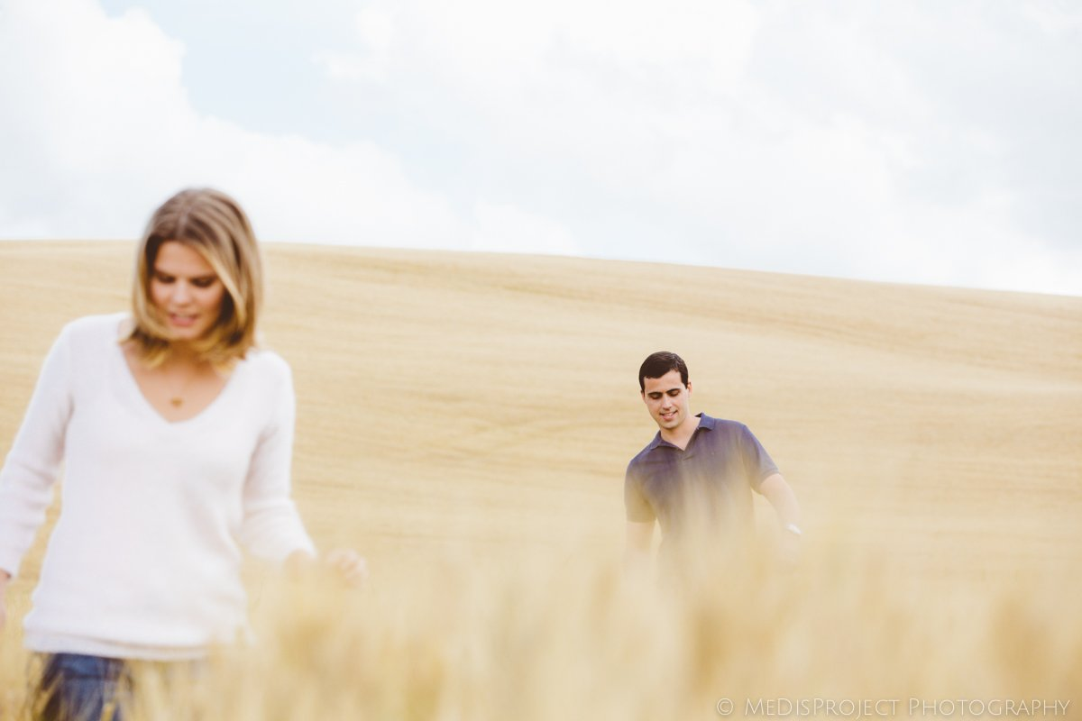 couple in the fields