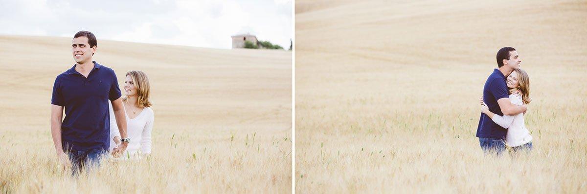 couple in golden fields