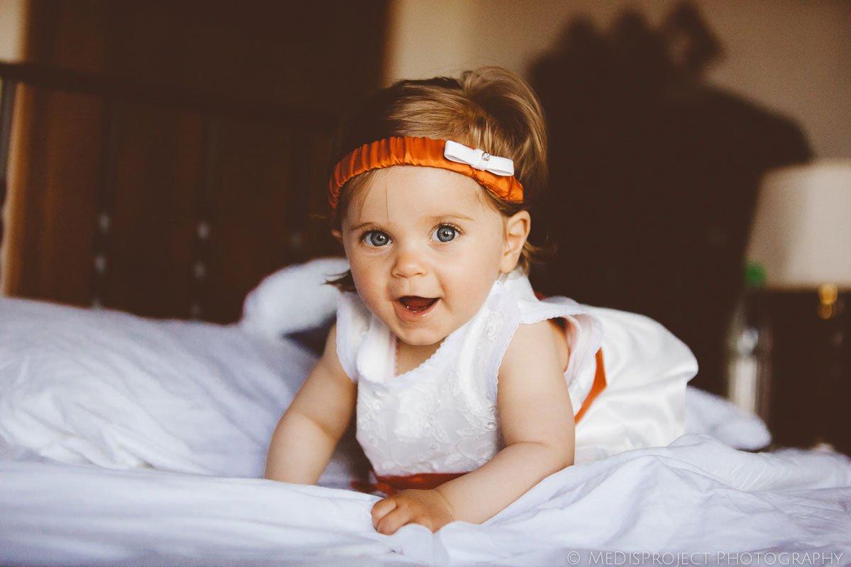young baby bridesmaid
