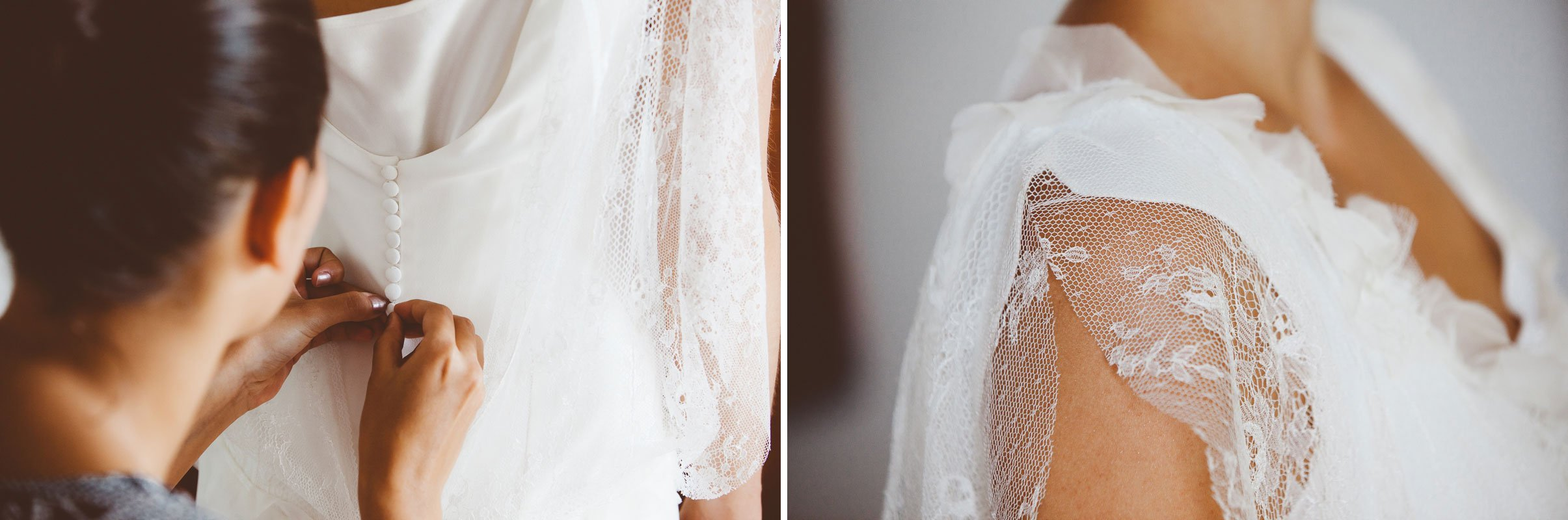 details of a wedding dress