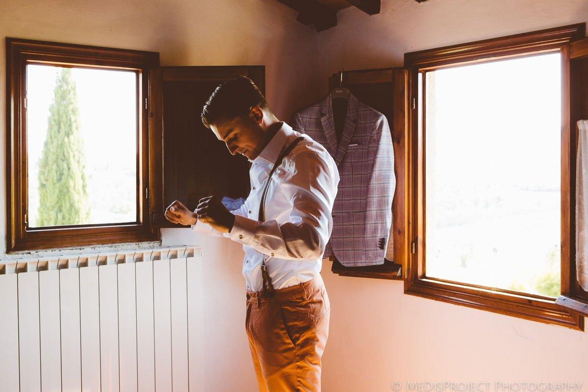 groom at the window