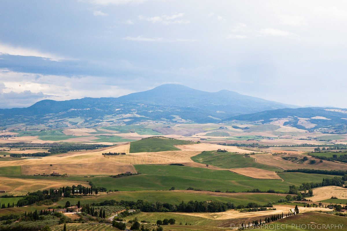 Mount Amiata view from Pienza