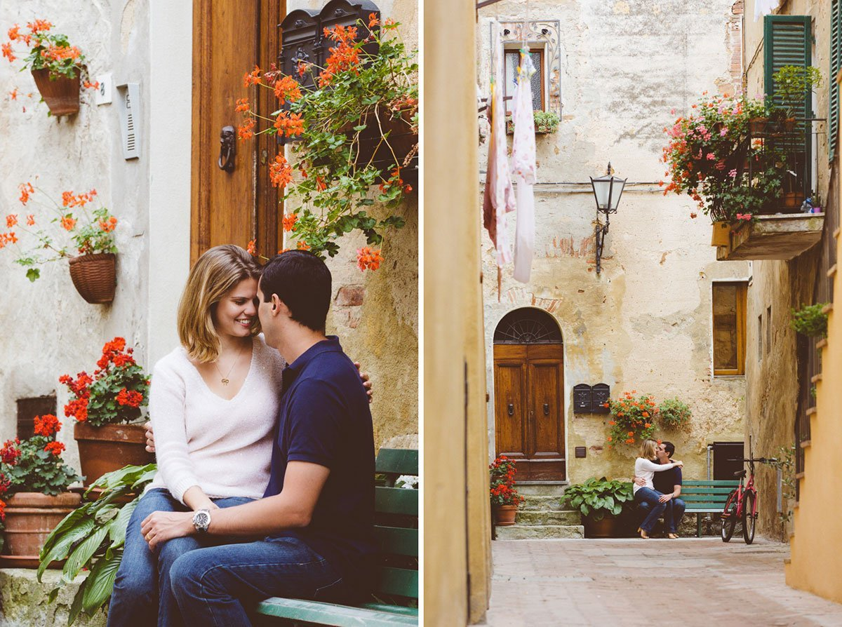 A love story photo session in Pienza