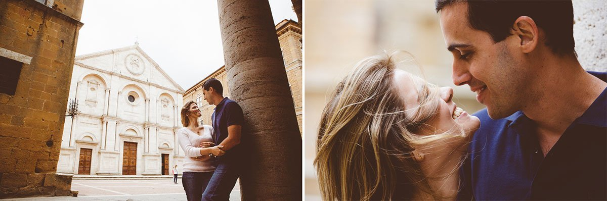 A love story photo session in Pienza Italy