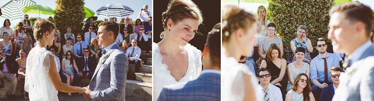 Outdoor summer ceremony at Agriturismo Il Mattone