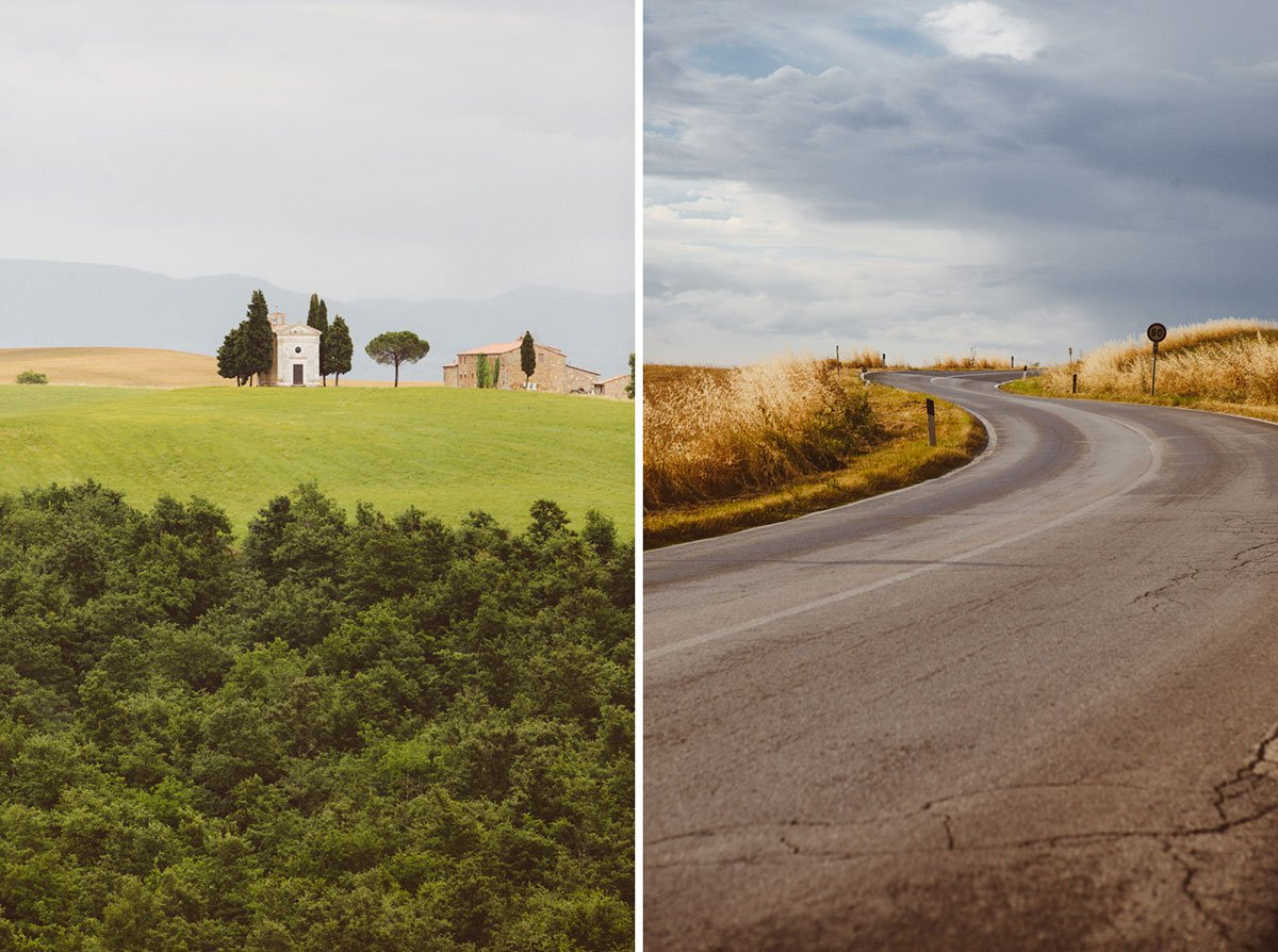 val d'orcia country road