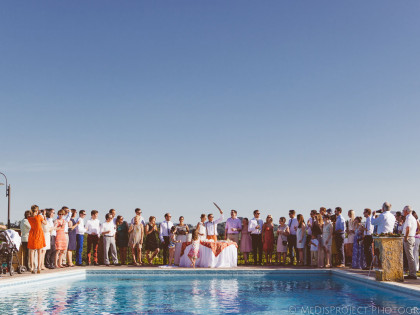 Outdoor summer ceremony | MeDisProject Wedding photographers in Tuscany