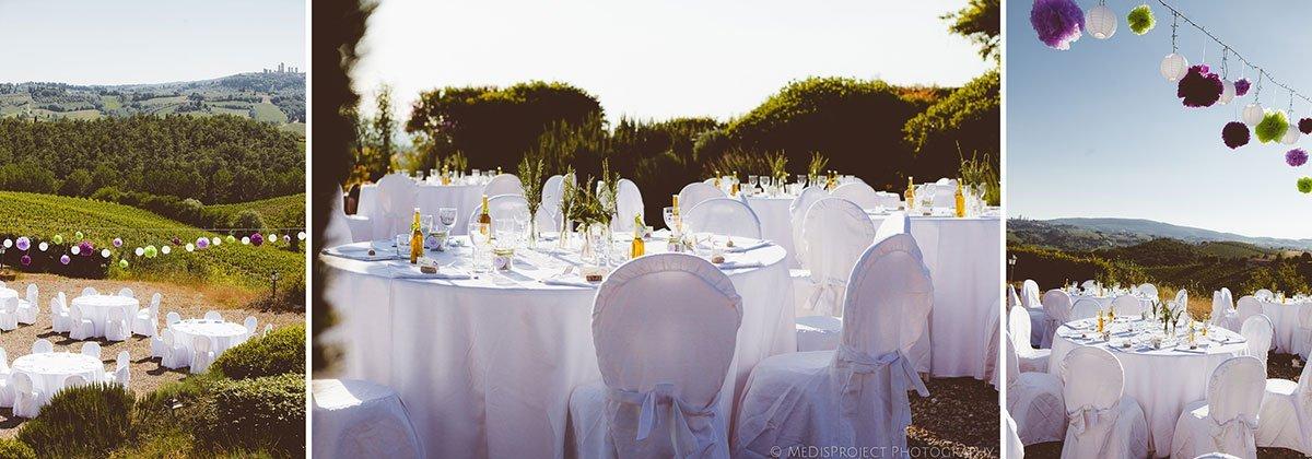 wedding tables outdoor