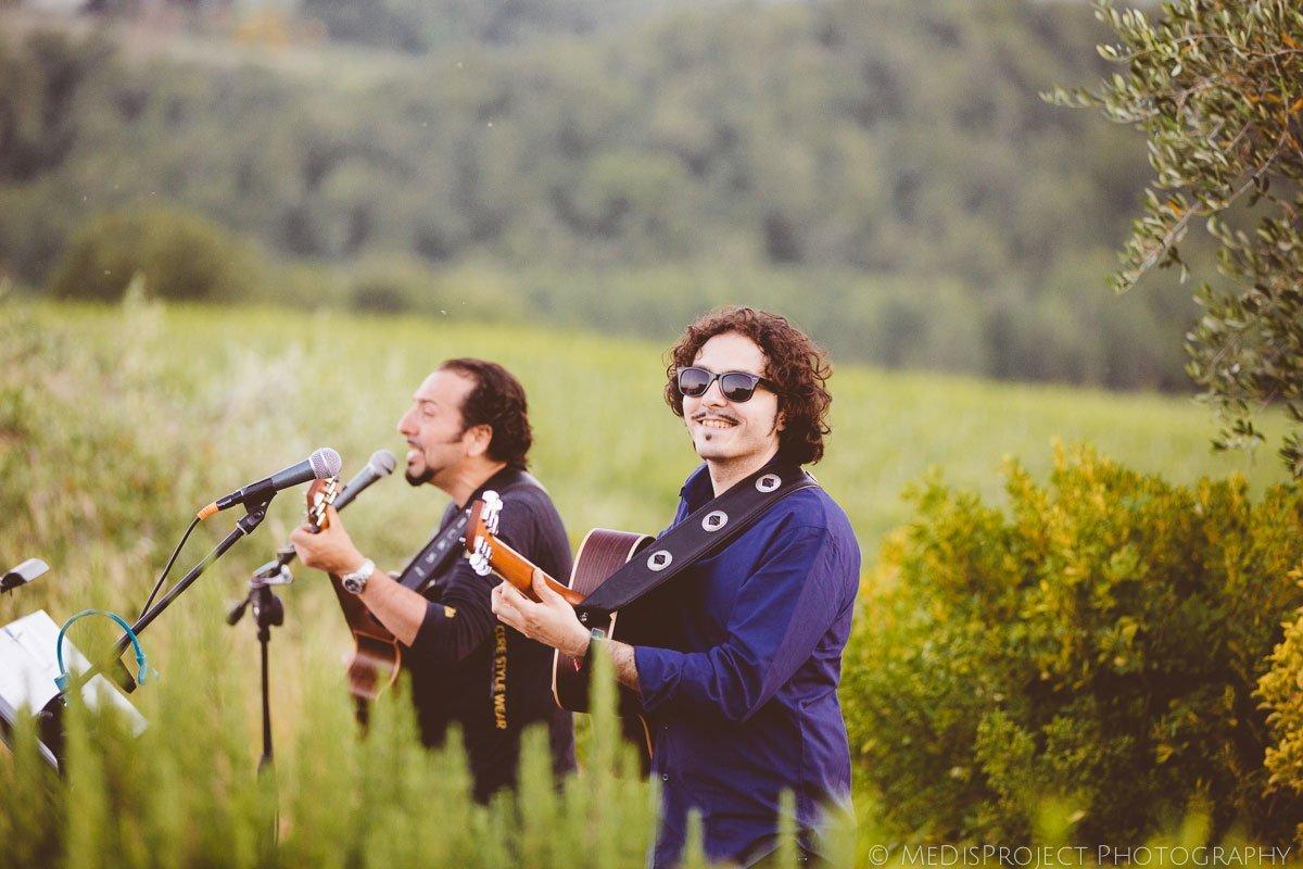 Wedding musicians Luca Sciortino and Claudio Spadi