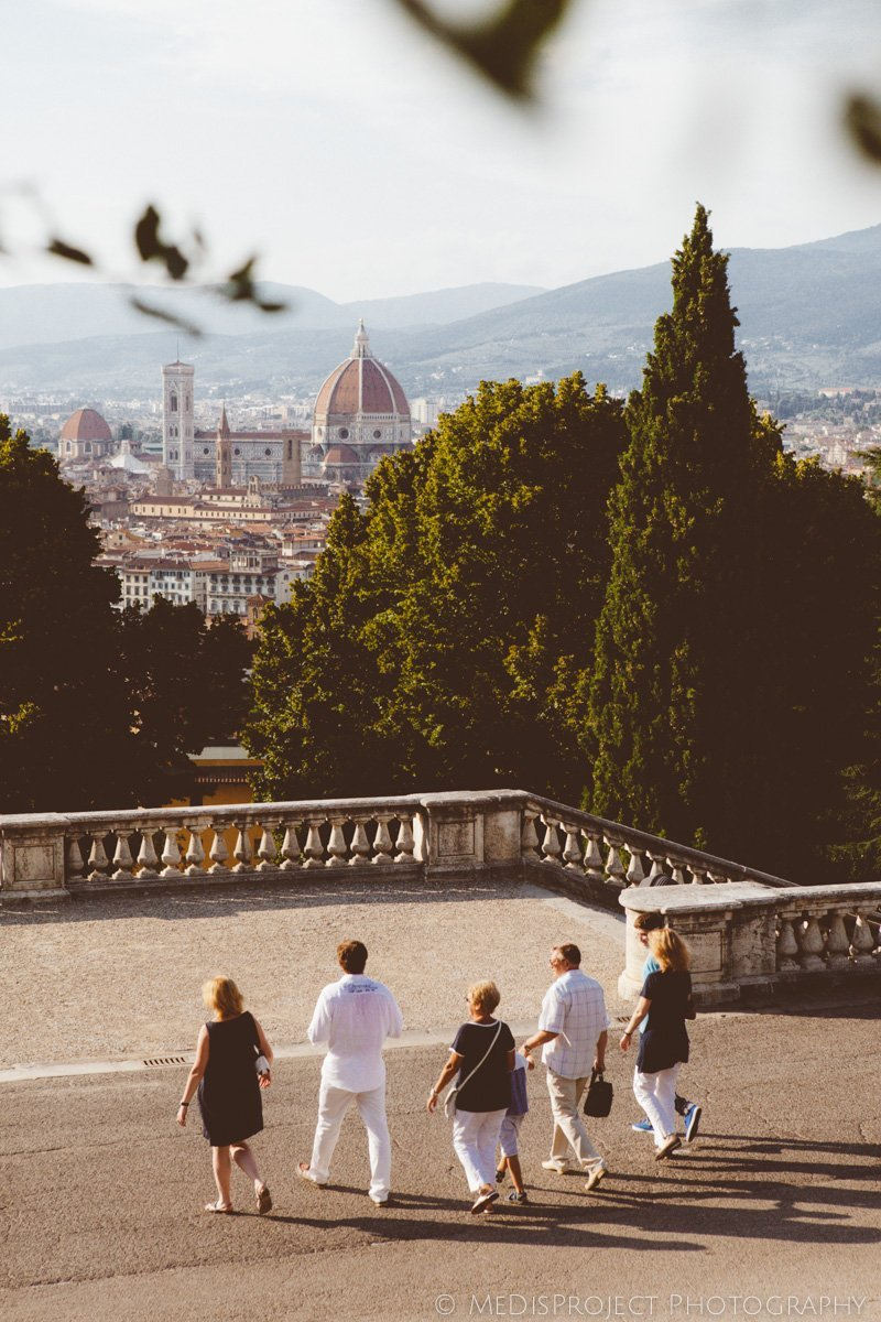 a family reunion in Florence