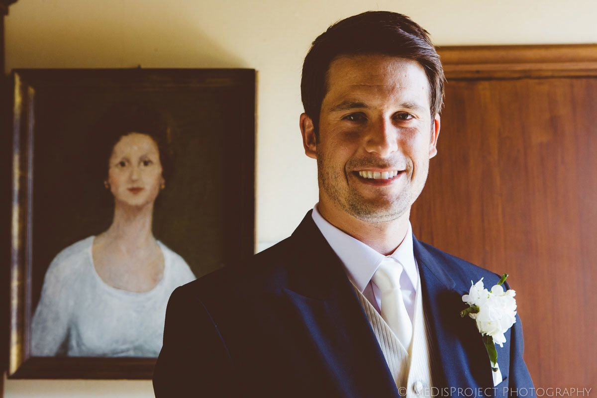 groom ready for the ceremony smiling