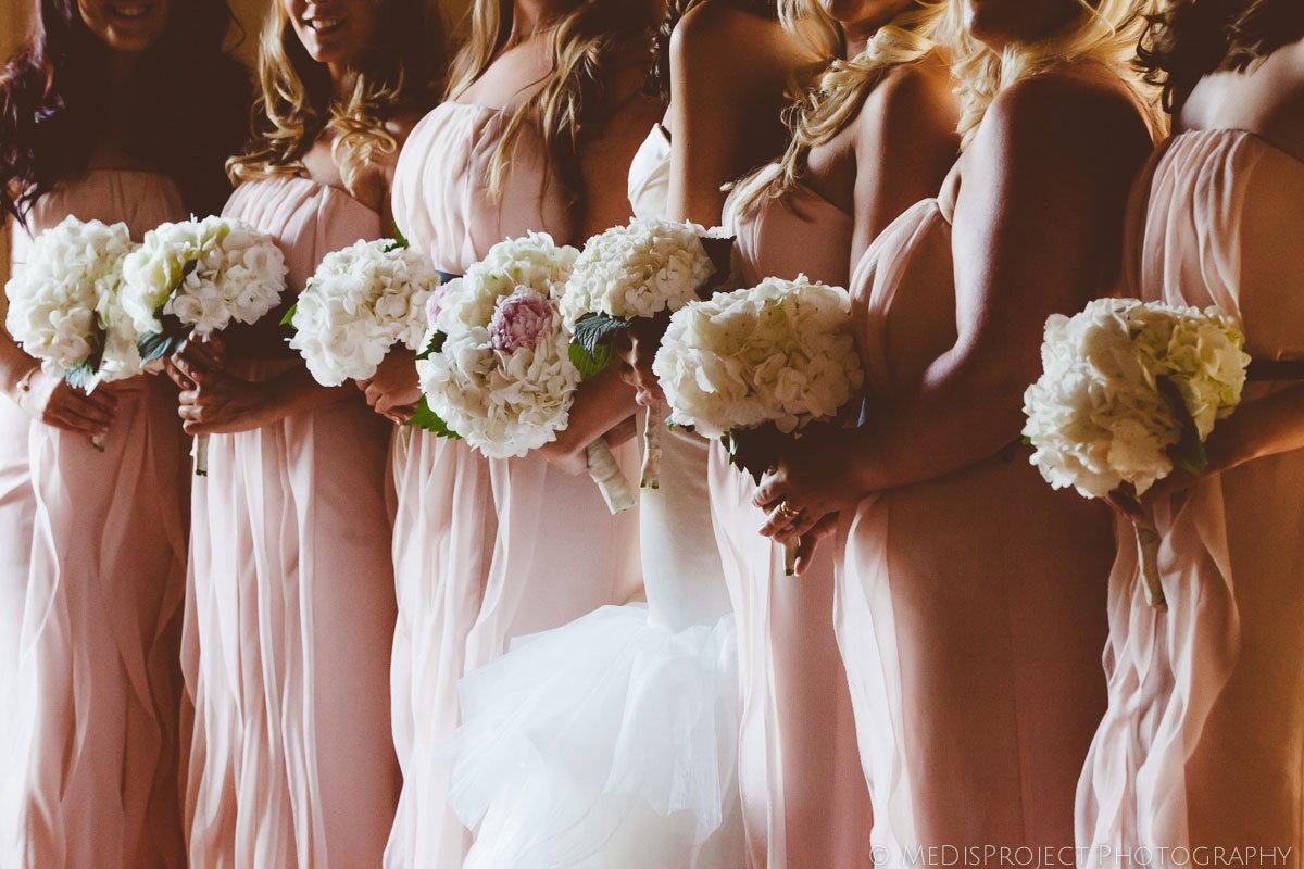 the bridesmaids' flowers