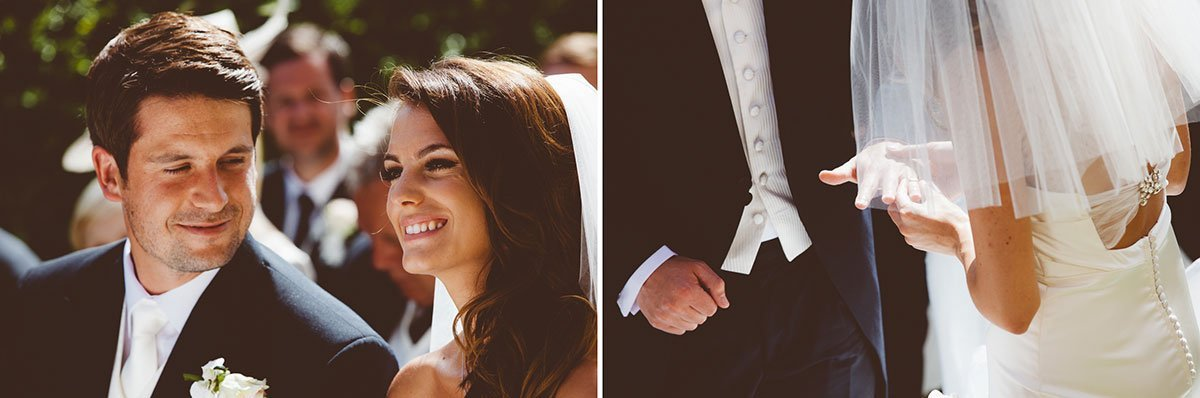 bride and groom exchanges the rings during the ceremony