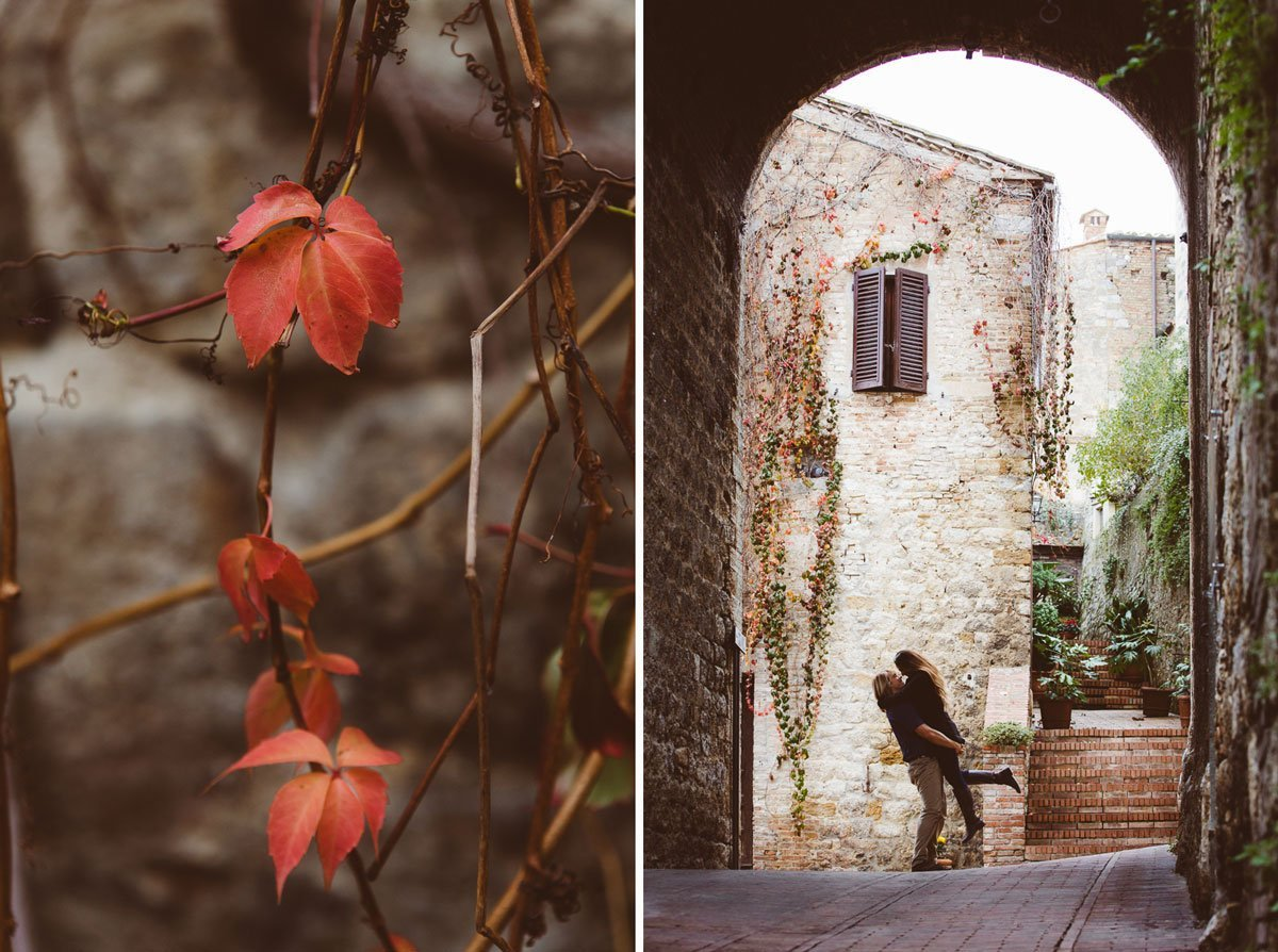 autumn trip photo session in San Gimignano