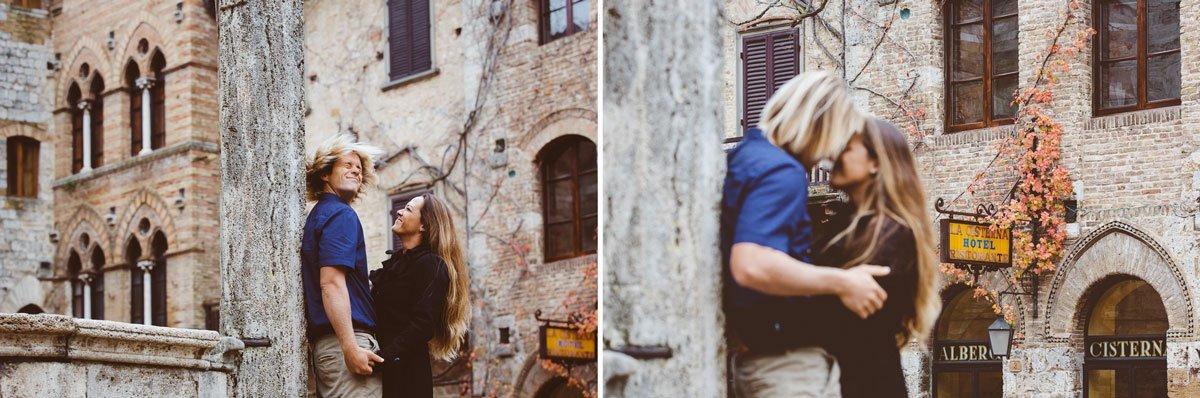 post wedding photo session in san gimignano