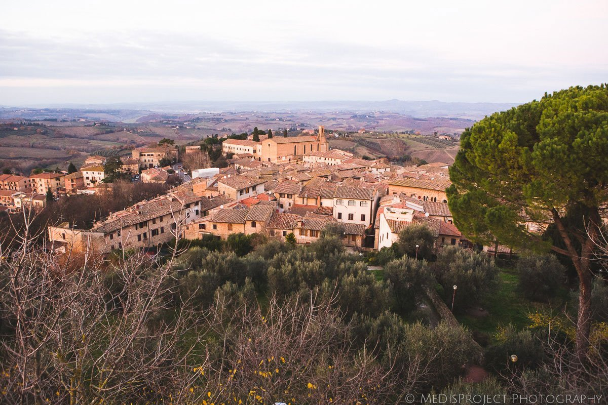a view from San Gimignano tower
