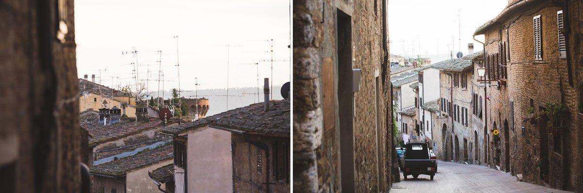 in San Gimignano streets