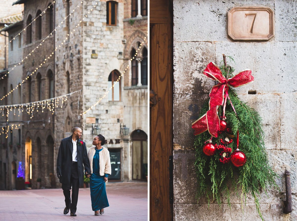 San Gimignano Winter Elopement