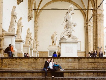 A little family portrait | Easter photo session in Florence