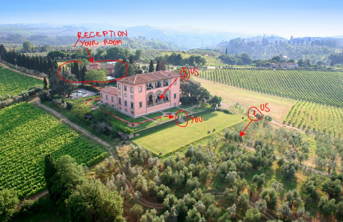 surprise Marriage proposal at Villa Mangiacane, Florence