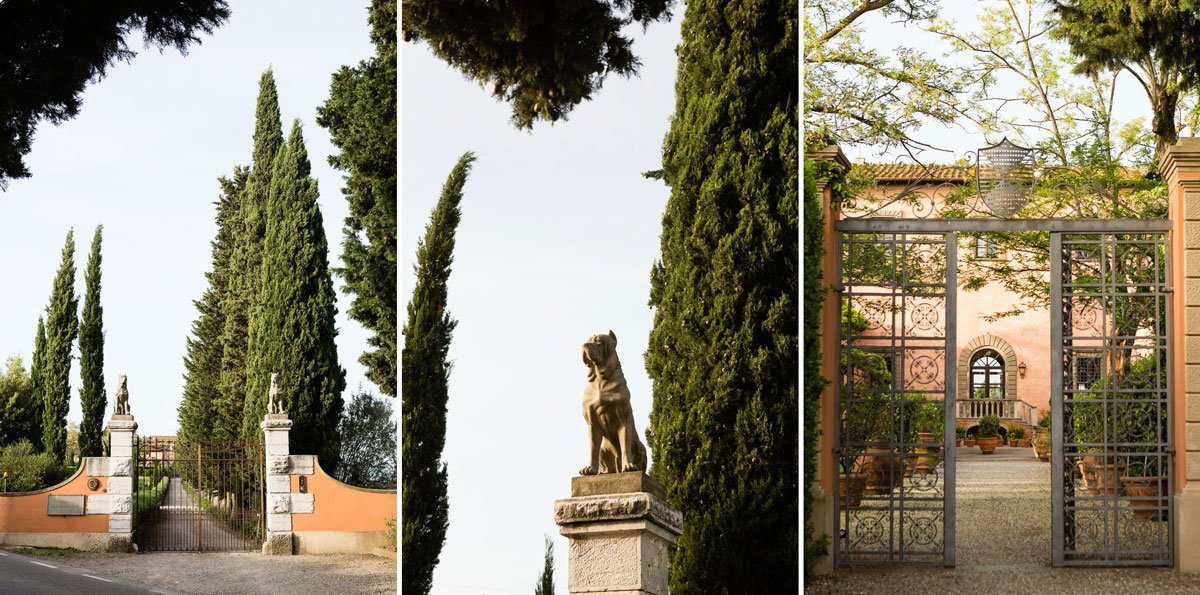 details of villa mangiacane, in the tuscan countryside