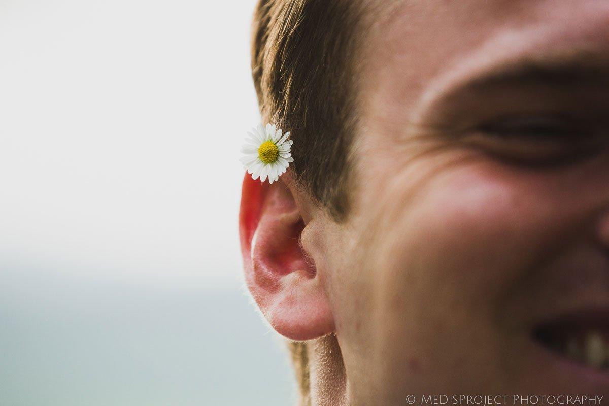a daisy on his ear