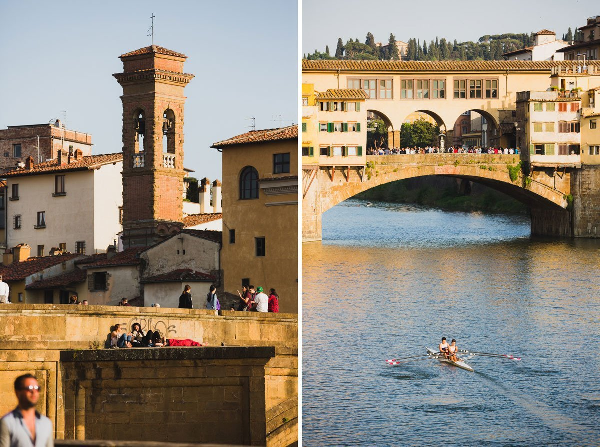 views of arno river in florence