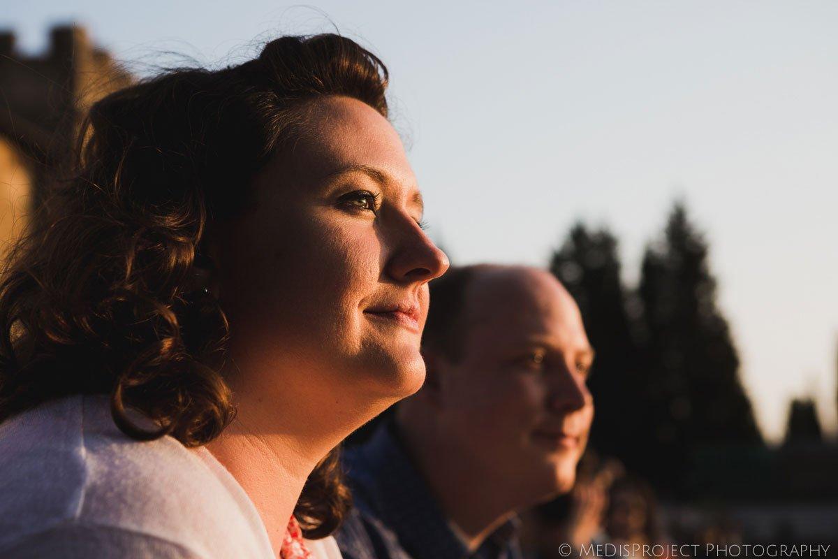 portraits at sunset