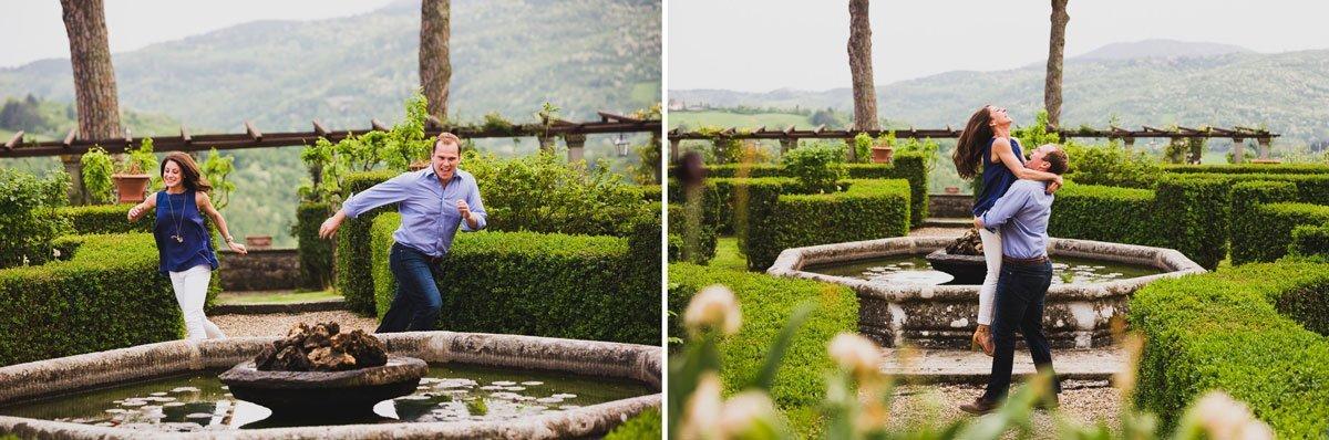 Engagement photo session at Villa di Bivigliano