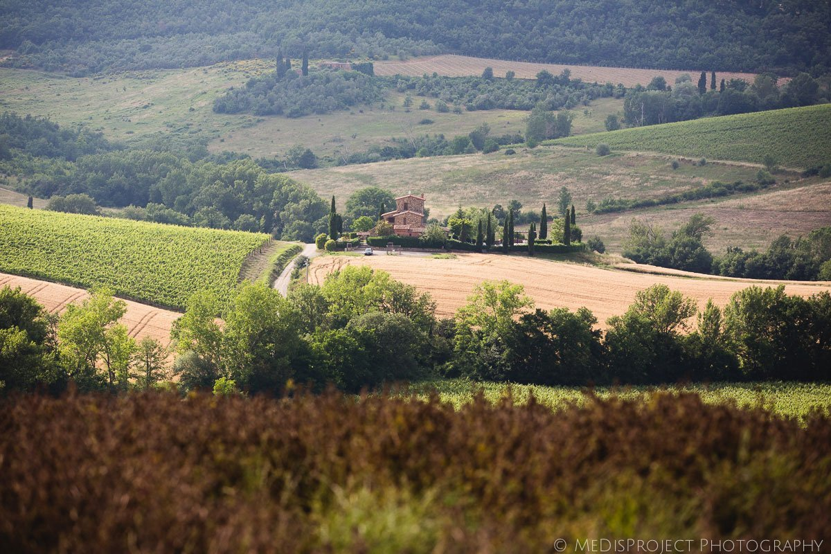 View of the fields surrounding Montepulciano