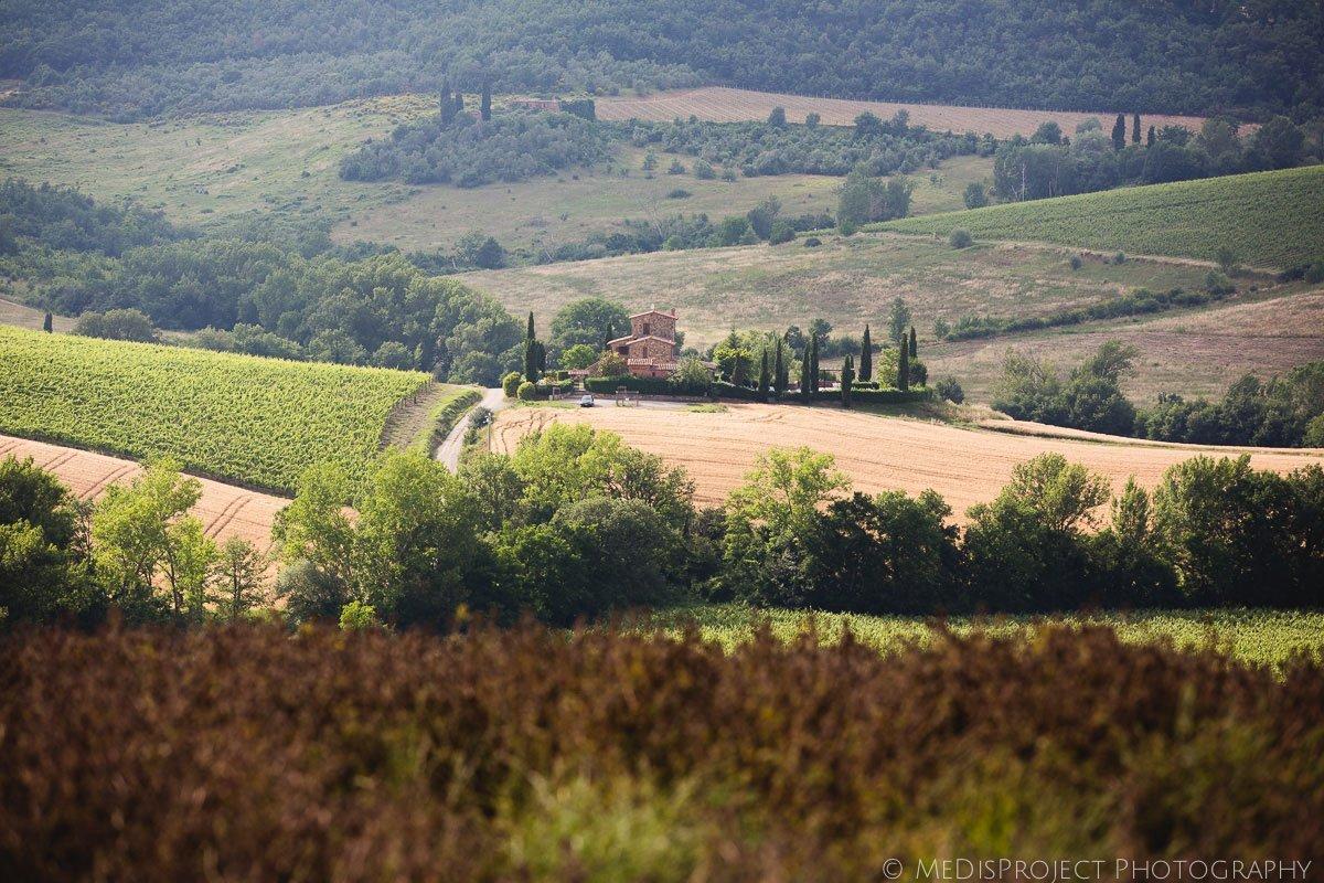 View of the fields surrounding Montepulciano