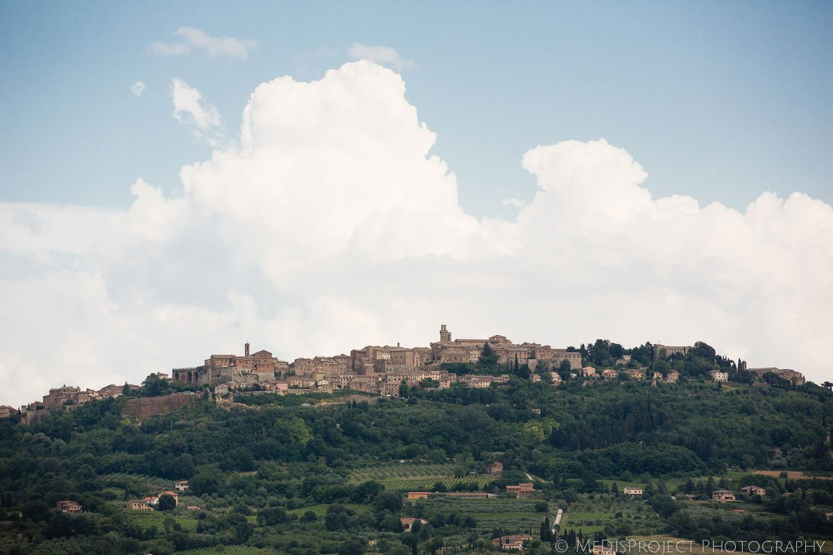 view of Montepulciano, Tuscany