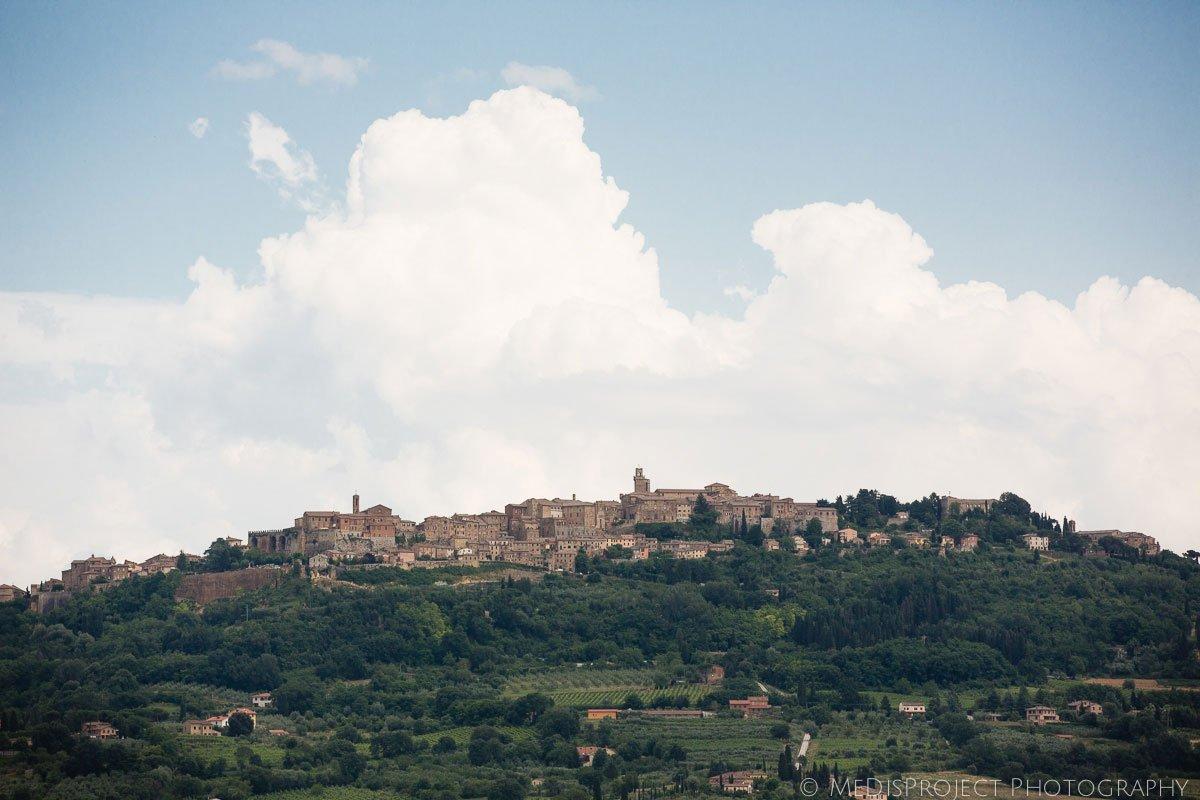 view of Montepulciano, Tuscany