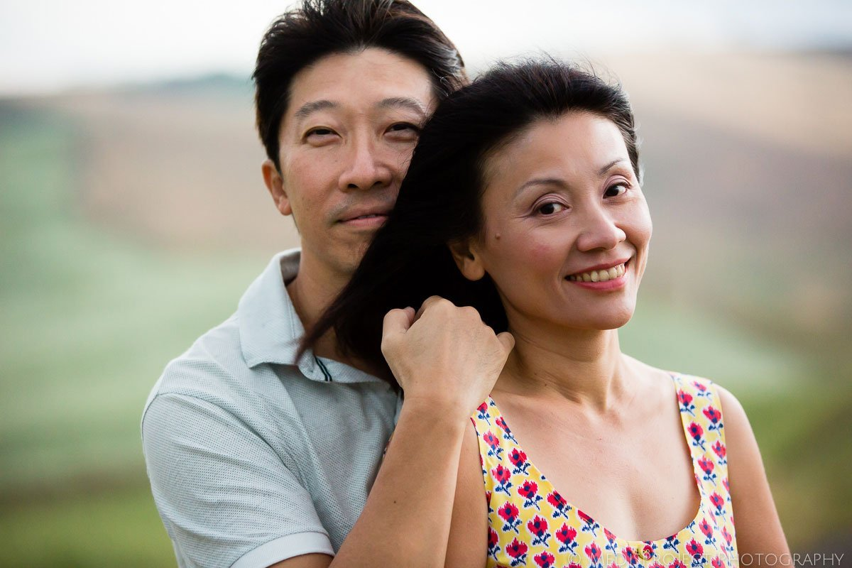 oriental couple smiling portrait