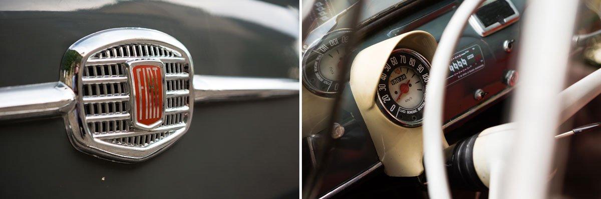 details of a fiat 500 vintage car