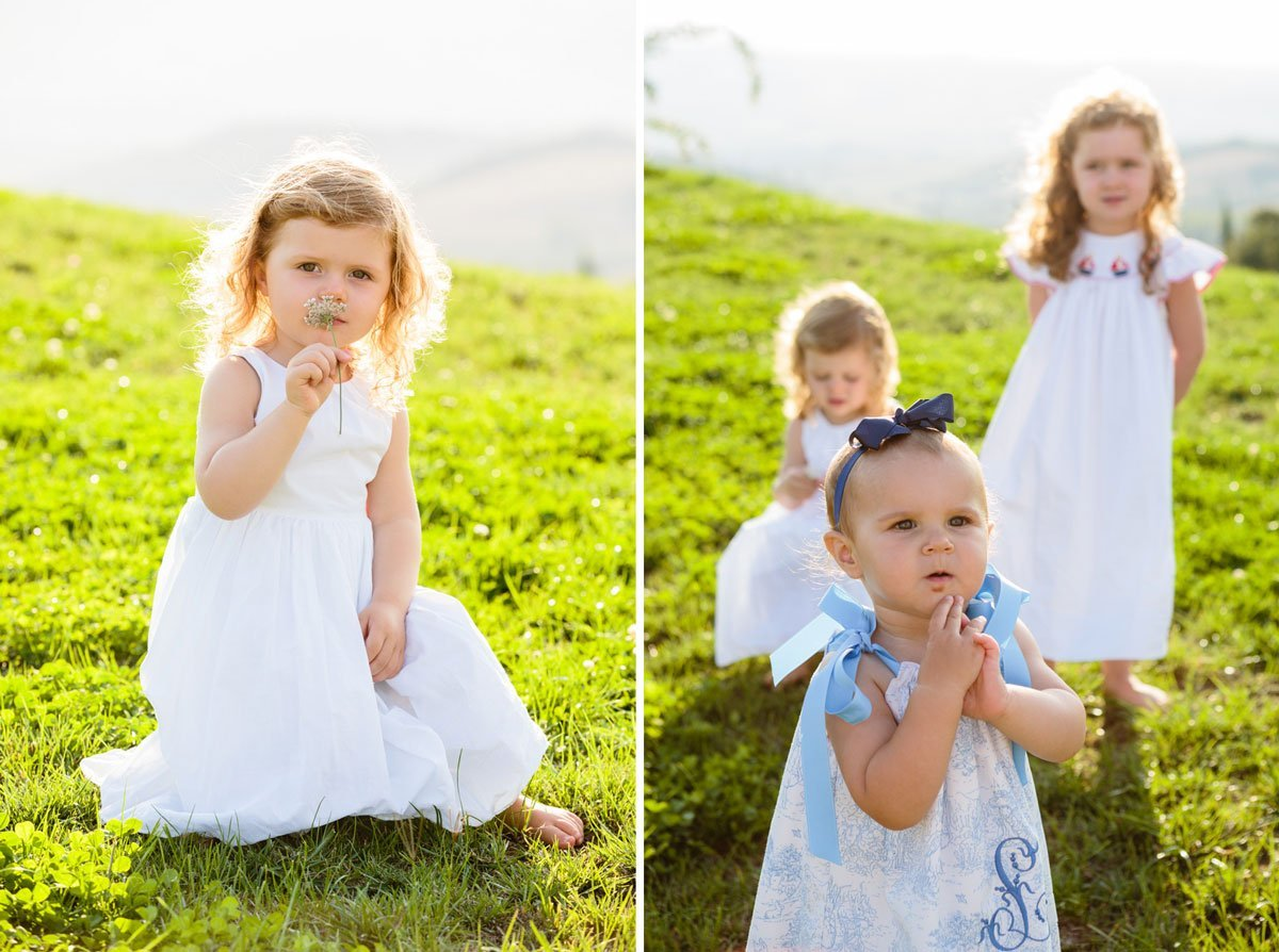 little angels babies playing on the grass