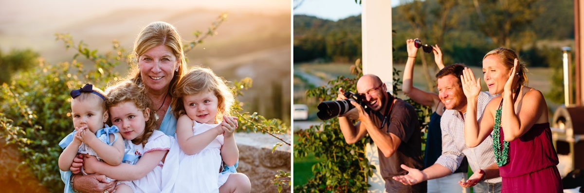 funny moments during a family portrait photo session