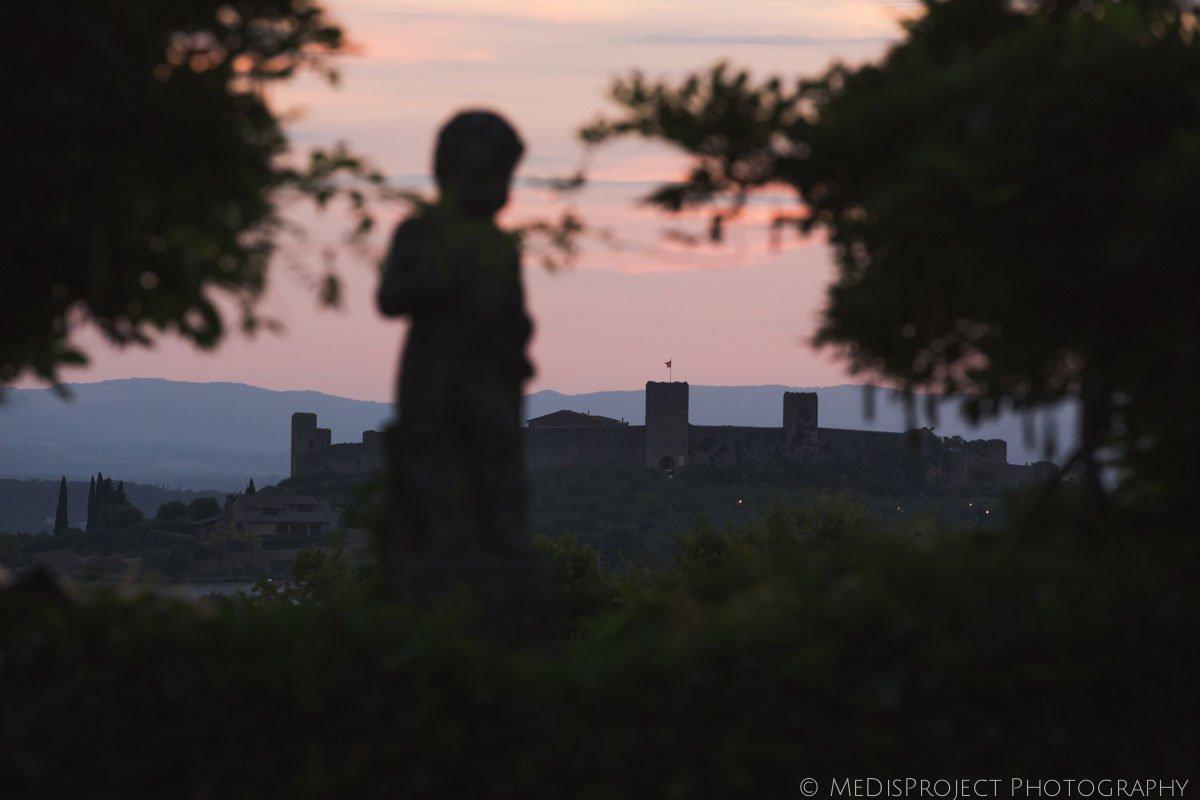 View of Monteriggioni from Tenuta Stomennano