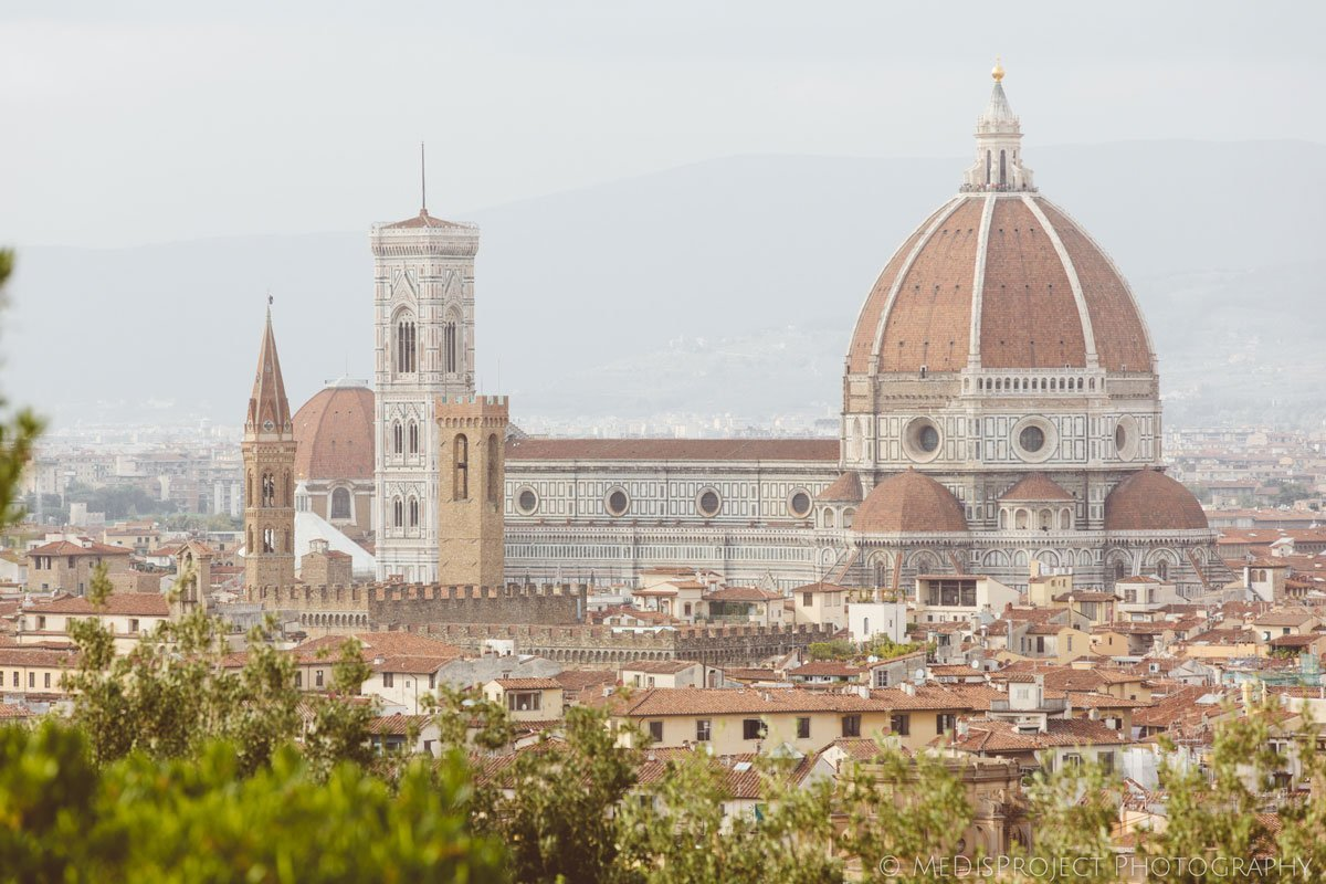 view of Brunelleschi's dome in Florence