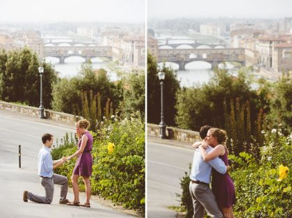 Surprise wedding proposal in Florence | Proposal planning