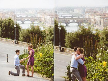 Surprise wedding proposal in Florence | Proposal planning