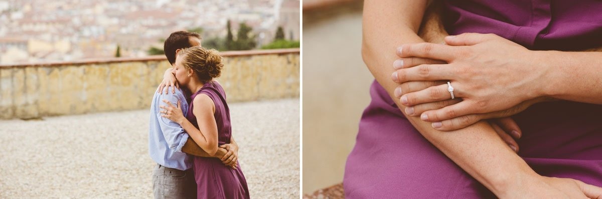 Surprise wedding proposal photo session in Florence