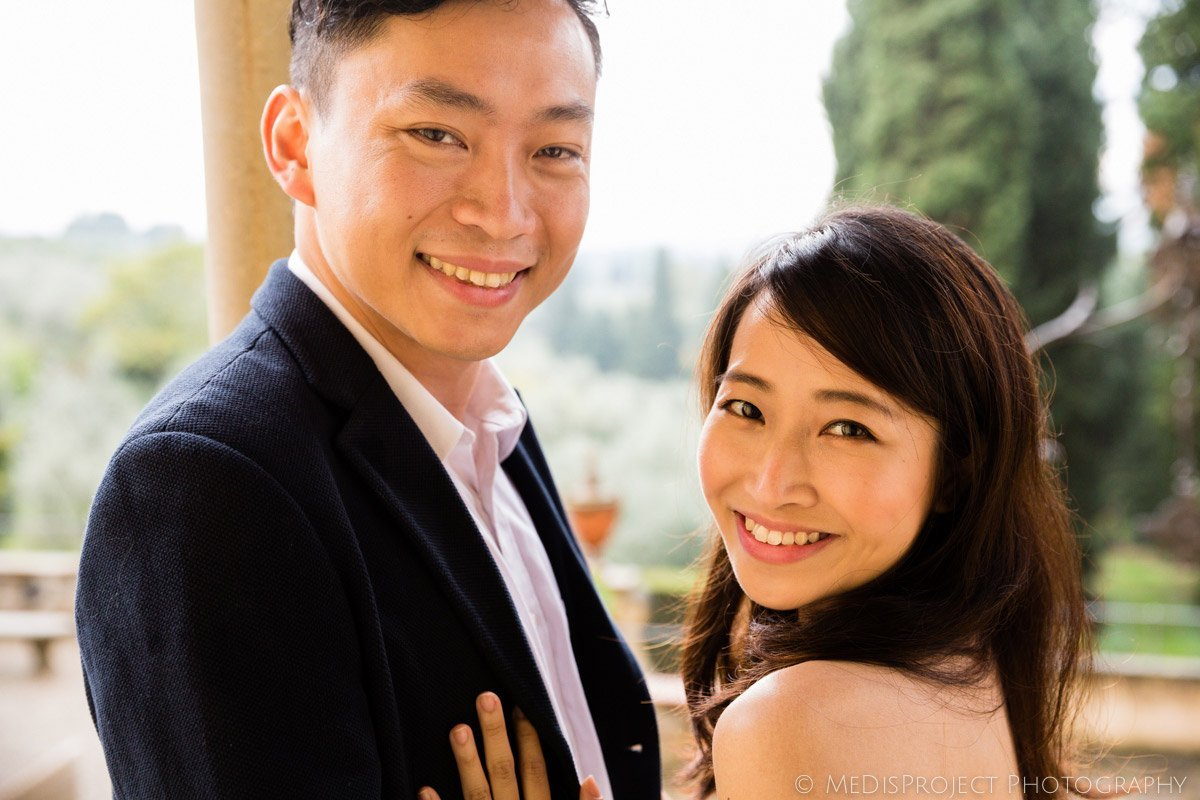 happy oriental couple portraits